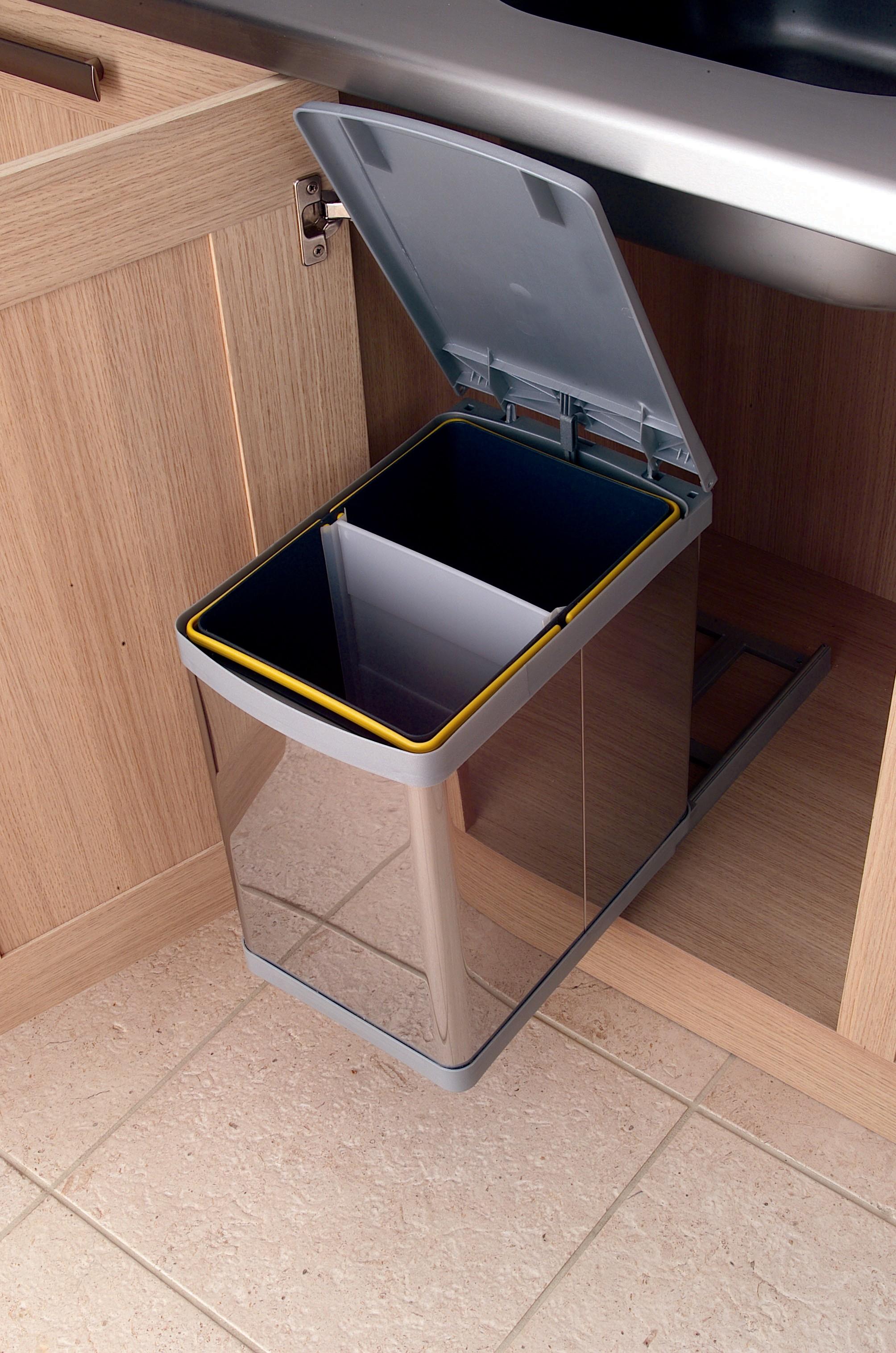 Waste Bin Waste Bin 20 L Stainless Steel 380mm H 423mm W